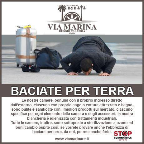 Baciate per Terra Guest House Via Marina B&B Reggio Calabria sanificato ozono